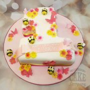 Bees & flowers shaped 1st birthday cake - Tamworth Sutton Coldfield