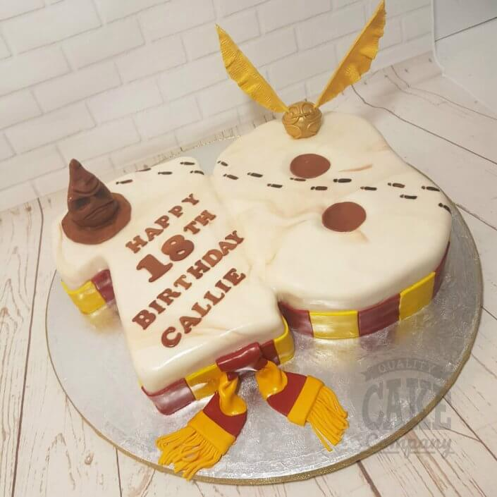 Harry Potter theme 18th shaped number cake - Tamworth
