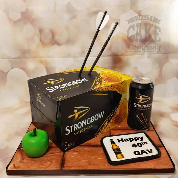 Strongbow crate box novelty cake - tamworth