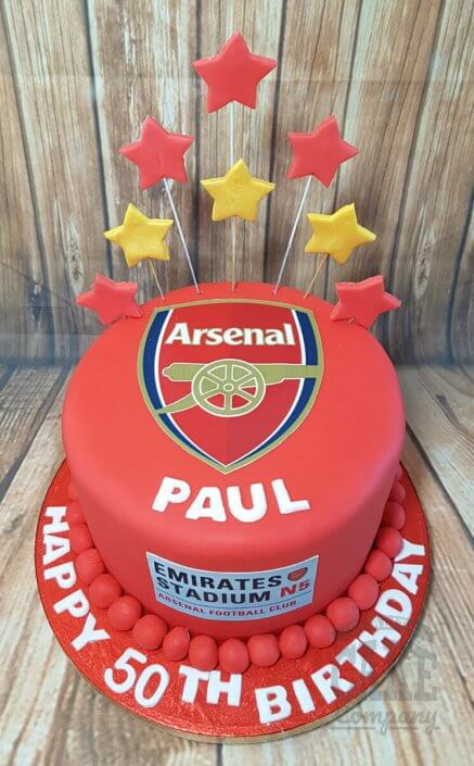 Arsenal FC gunners birthday cake - Tamworth