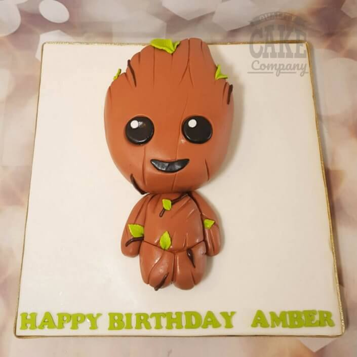 Baby groot shaped birthday cake - Tamworth
