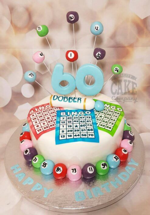 Bingo theme spray birthday cake - Tamworth Sutton Coldfield