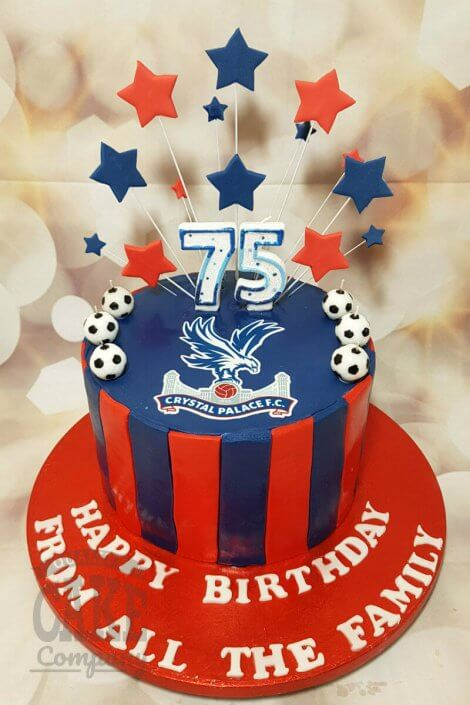 crystal palace fan star spray birthday cake - Tamworth