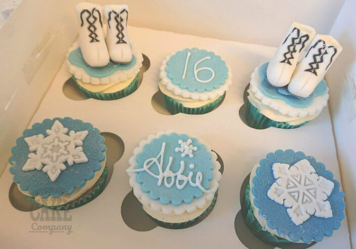 Ice skating boots themed cupcakes - Tamworth