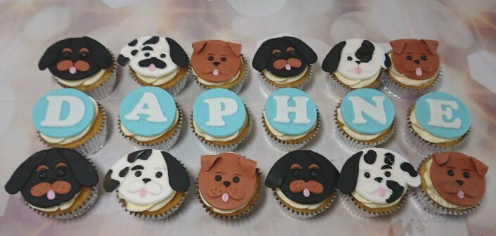 2D dog cupcake toppers - tamworth sutton coldfield