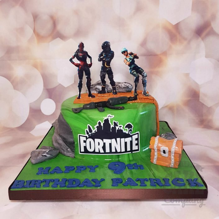 Fortnite theme cake