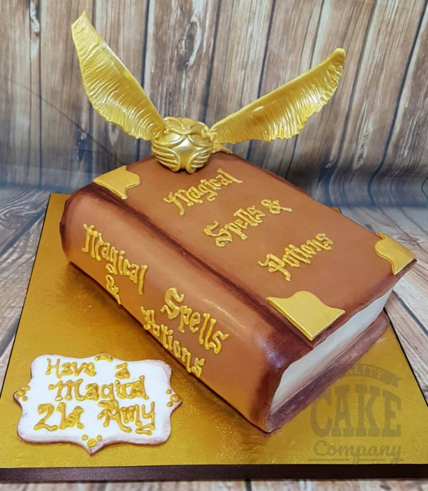 Harry potter spells book snitch birthday cake - tamworth