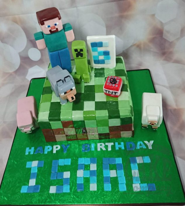 Minecraft blocks figures theme cake tamworth