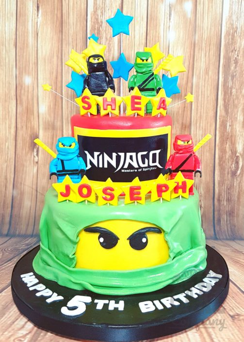 Two tier Ninjago cake - tamworth