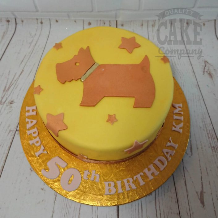 Radley dog logo cake - tamworth