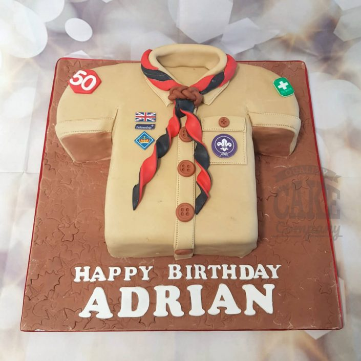 Scout shirt novelty shape cake - tamworth