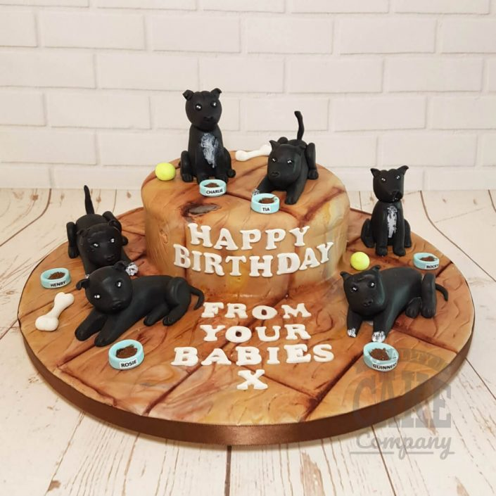 Staffie dog cake - tamworth