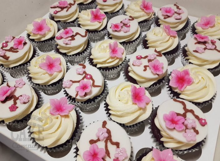 Cherry blossom wedding cake & cupcakes - Tamworth west midlands