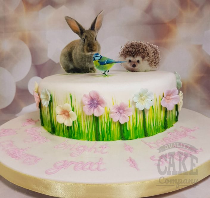 Wildlife theme birthday cake - Tamworth
