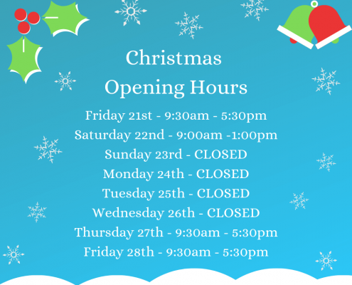 Quality Cake Company Christmas 2018 open hours