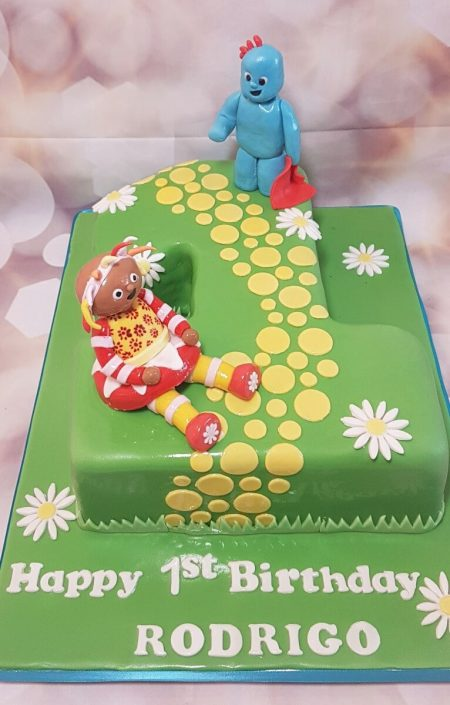 1 shape number cake in the night garden - tamworth
