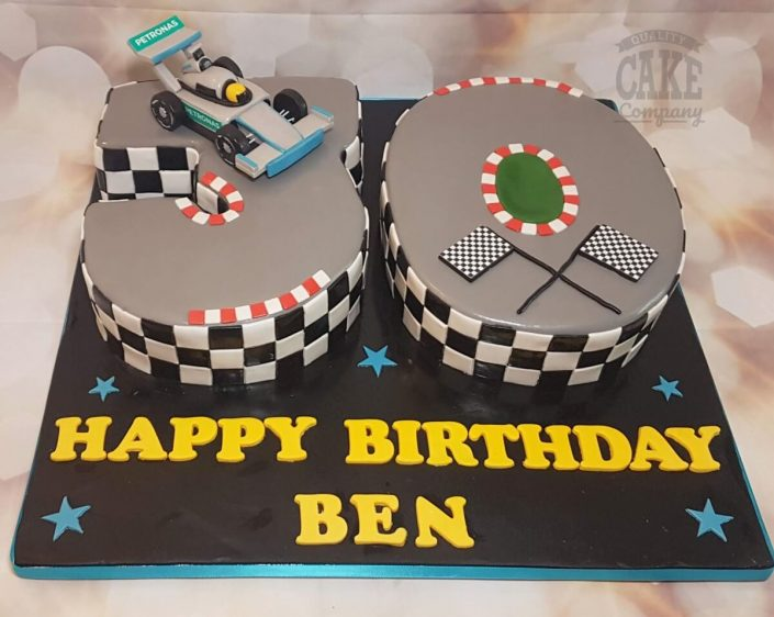 30 number cake formula 1 one theme - tamworth