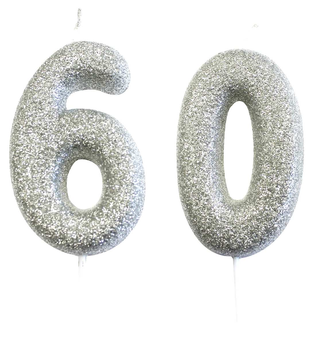60th birthday silver candle