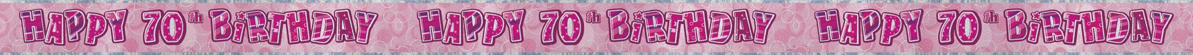 70th birthday banner pink