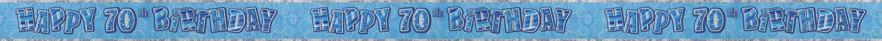 70th birthday banner blue