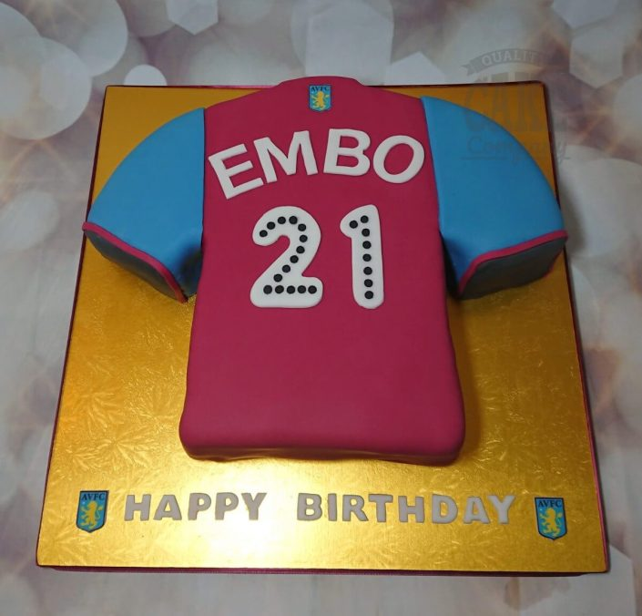 Aston villa avfc football shirt cake - tamworth