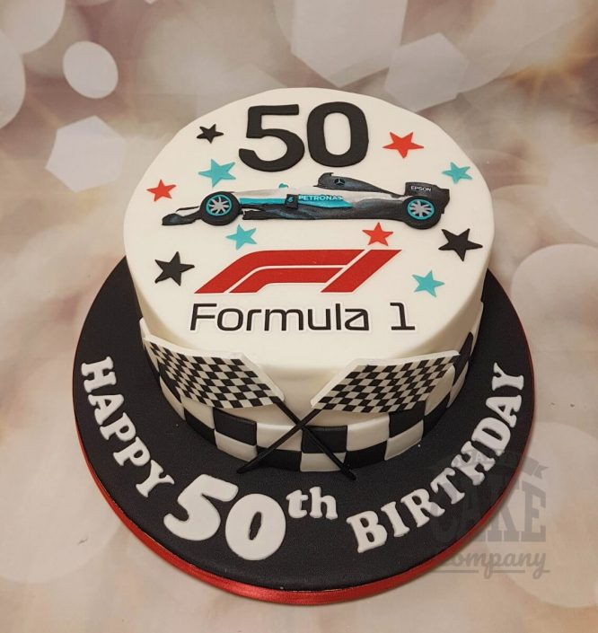 Formula 1 theme birthday cake - Tamworth