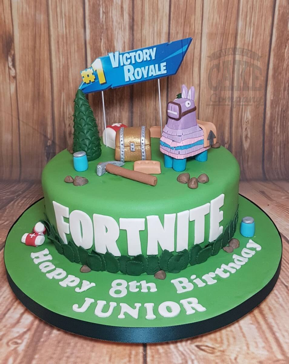 Fortnite Lllama Theme Cake