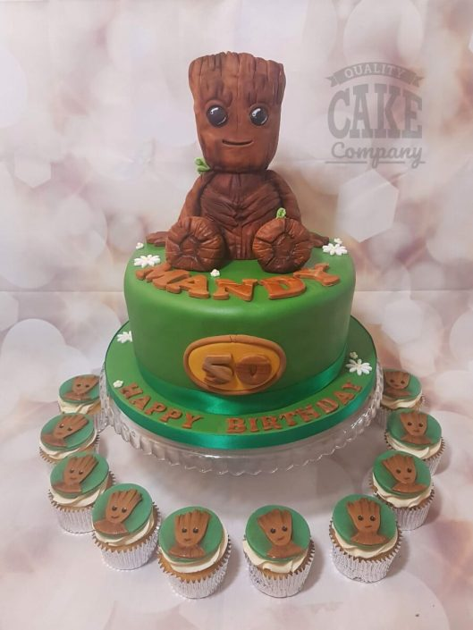 Groot 3d figure theme birthday cake - Tamworth West Midlands