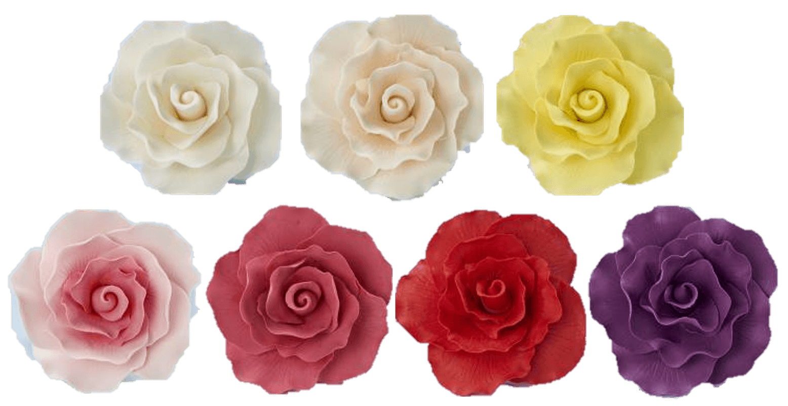 Rose heads flower icing cake decorations - Tamworth West Midlands