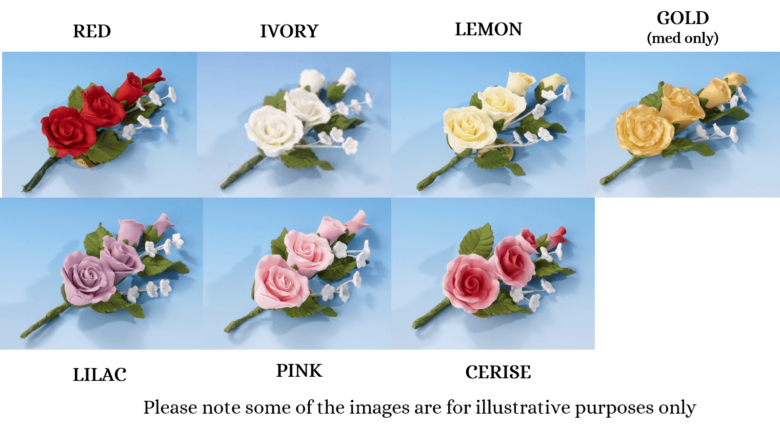 Rose Spray flower icing cake decorations - Tamworth West Midlands