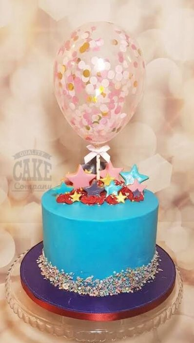 Balloon cake topper stars cake - tamworth
