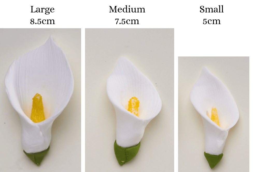 Cala lily flower icing cake decorations - Tamworth West Midlands