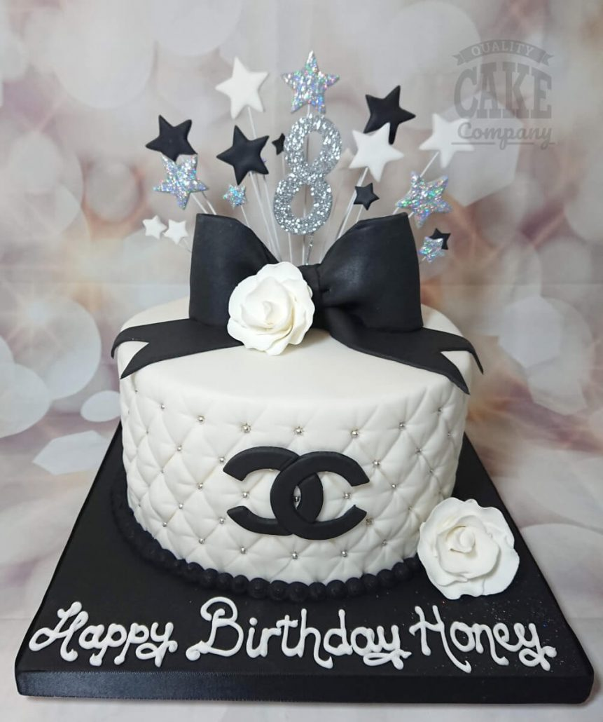 Chanel quilted cake black white with big bow - Tamworth West Midlands