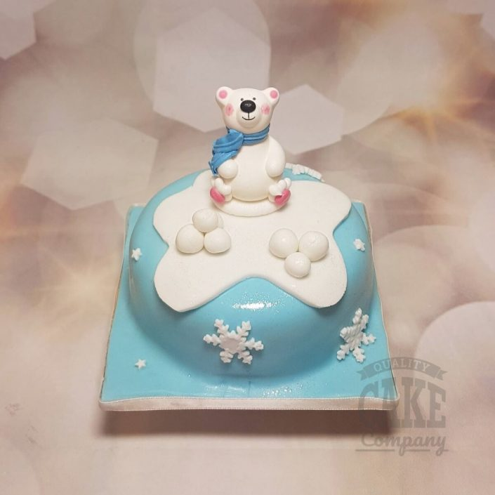 Polar bear topper christmas cake - tamworth
