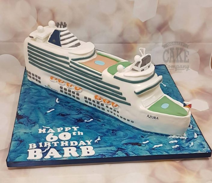 P&O Azura cruise ship novelty birthday cake - tamworth