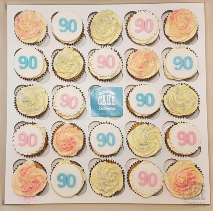 90th birthday pastel cupcakes - Tamworth