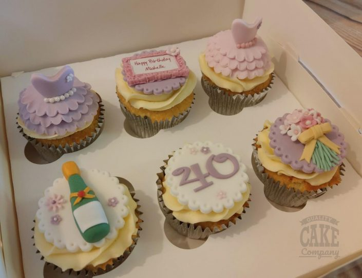 Girly pretty dress cupcakes - Tamworth