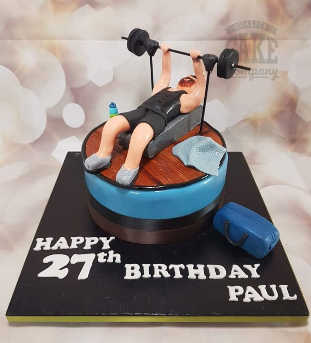 Gym weightlifting theme birthday cake - Tamworth West Midlands