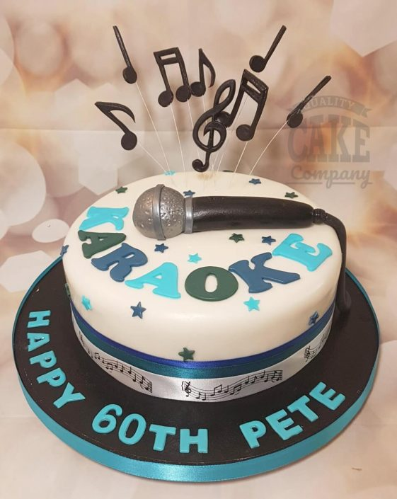 Karaoke microphone music note birthday cake - tamworth west midlands