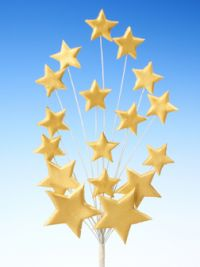 Gold star spray icing cake decoration - Tamworth, West Midlands