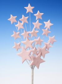 Pink star spray icing cake decoration - Tamworth, West Midlands