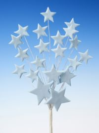 Blue star spray icing cake decoration - Tamworth, West Midlands