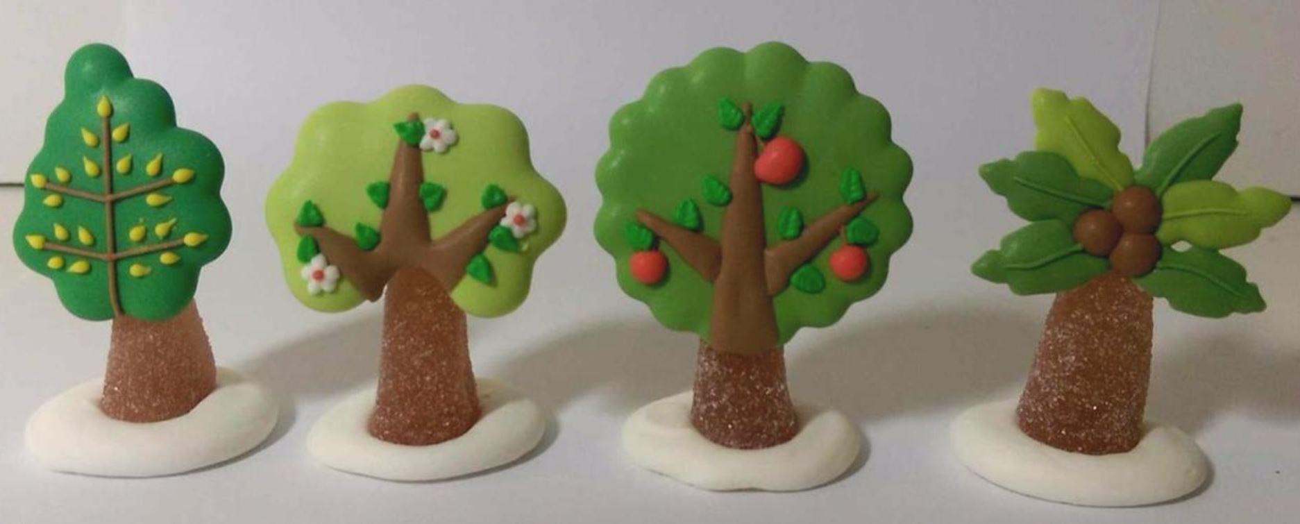 Various tree designs Icing sugar cake decoration - Tamworth West Midlands