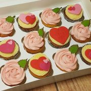 Valentine's Day cupcakes box of 12 - Quality Cake Company Tamworth