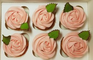 pink rose swirl cupcake Valentine's Mother's Day gift idea - Tamworth, West Midlands