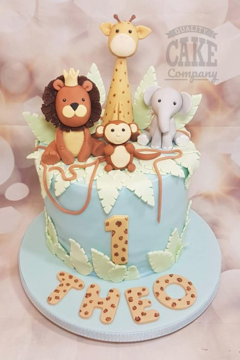 Excellent Childrens 1St Birthday Cakes Quality Cake Company Tamworth Personalised Birthday Cards Sponlily Jamesorg