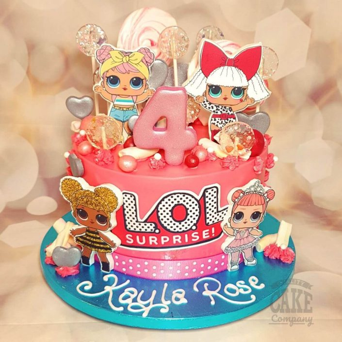 LOL dolls theme birthday cake - tamworth