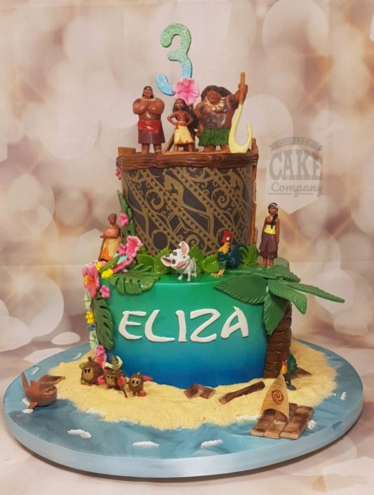 Moana theme childrens birthday cake - tamworth