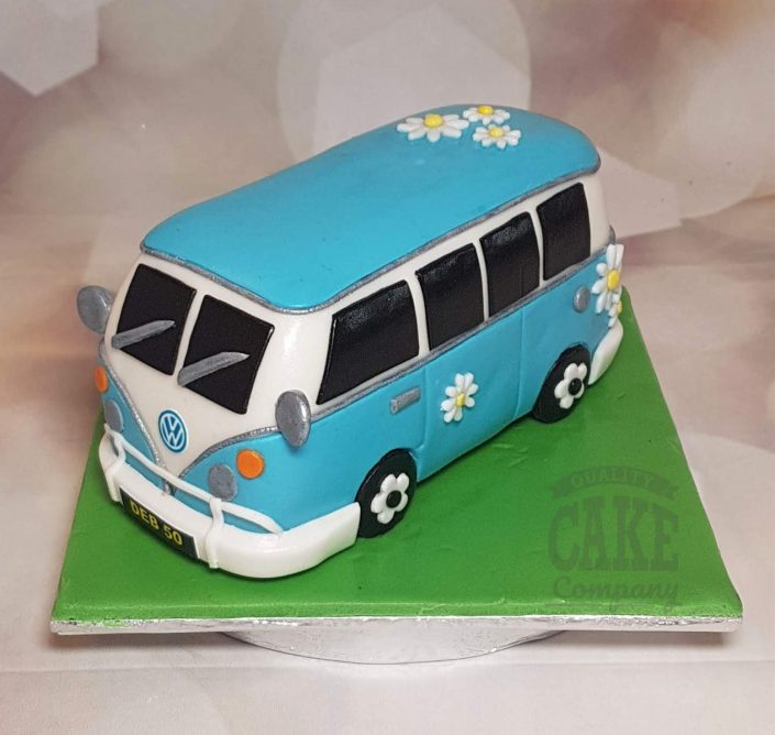 VW camper van cake topper made from icing - tamworth west midlands