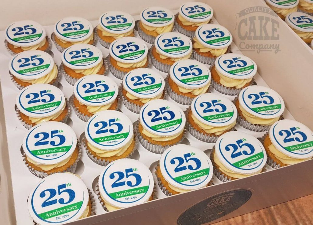 corporate anniversary cupcakes - tamworth west midlands